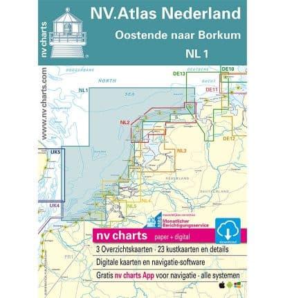 NV Atlas Vaarkaart NL1 Noordzeekust