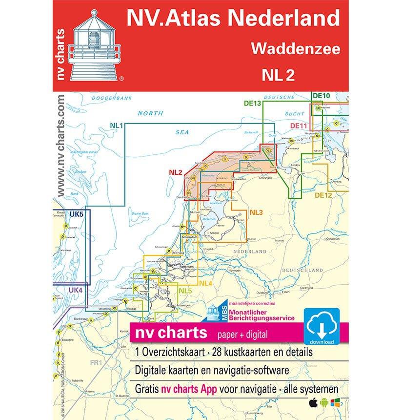 NV Atlas Vaarkaart NL2 Waddenzee