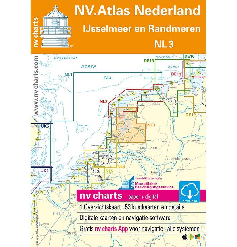 NV Atlas Vaarkaart NL3 IJsselmeer Randmeren