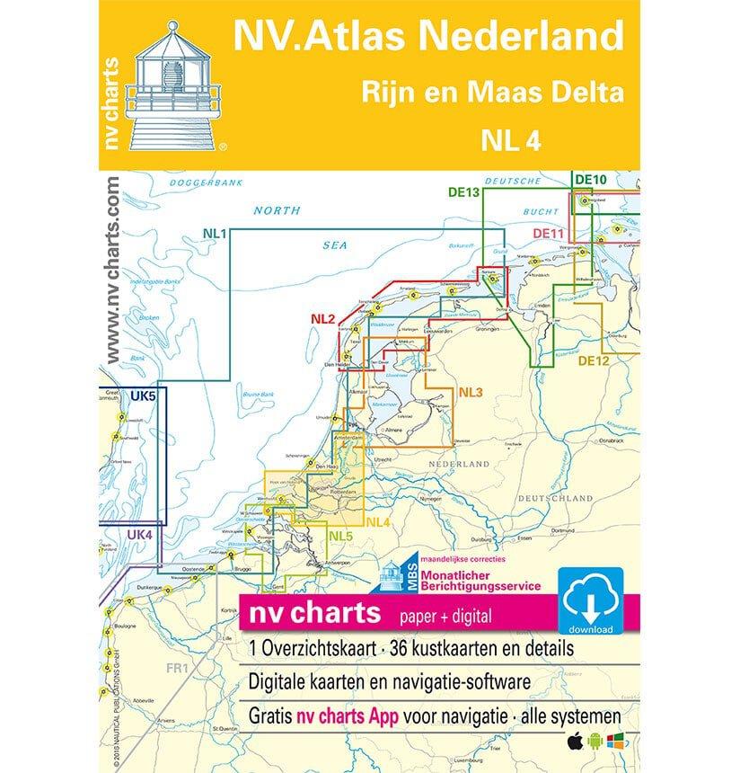nv atlas vaarkaart nl4 rijn maasgebied