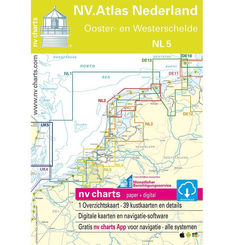 NV Atlas Vaarkaart NL5 Oosterschelde Westerschelde