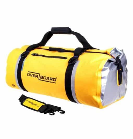 overboard duffelbag 60 liter geel