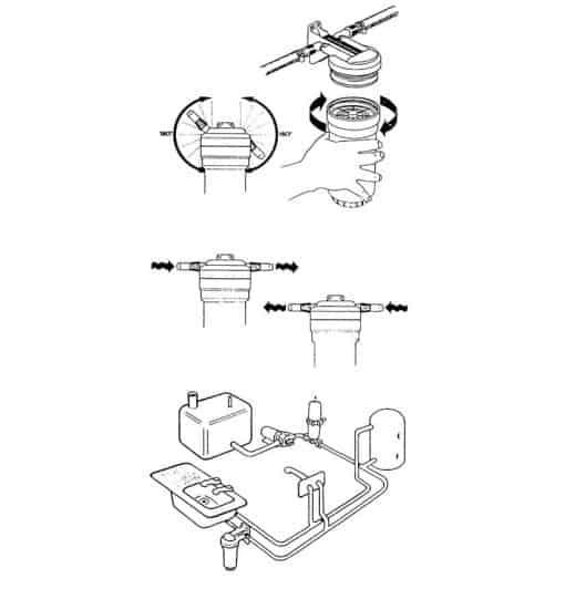 aquafilta jabsco instructie