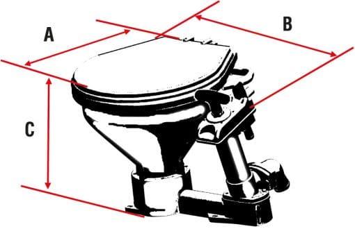 toilet boot nuova rade afmetingen LT0