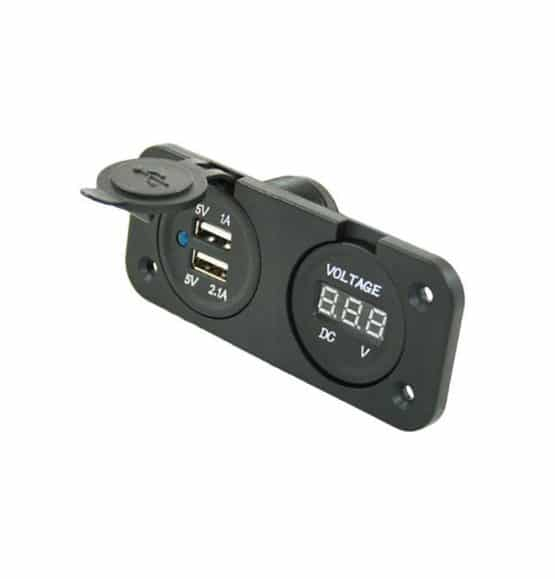 usb lader 12 volt stopcontact voltage meter