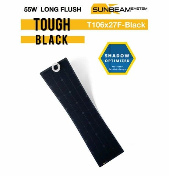 tough zonnepaneel 55 watt sunbeamsystem black