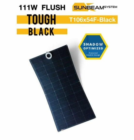 tough zonnepaneel 111 watt sunbeamsystem black