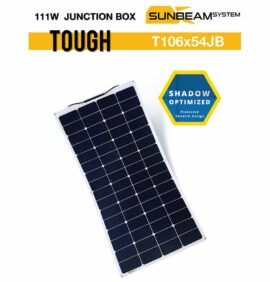 tough zonnepaneel 111 watt sunbeamsystem junction box