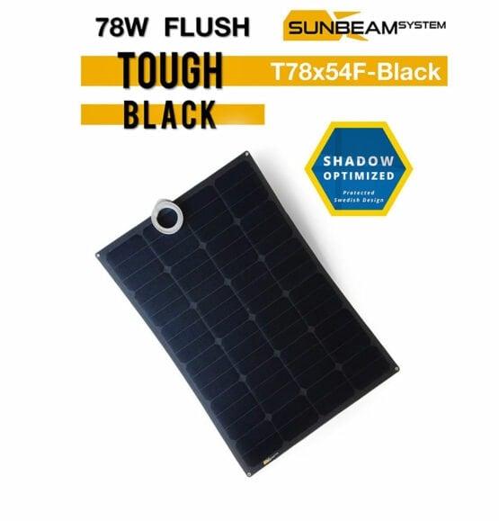 tough zonnepaneel 78 watt sunbeamsystem black