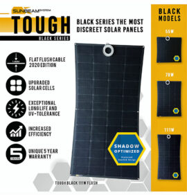 tough sunbeamsystem black serie beloopbaar zonnepaneel